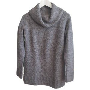 Columbia boucle knit gray turtleneck neck sweater